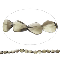 Natural Smoky Quartz Beads, Grade AAA, 15x19x8mm-21x2x11mm, Hole:Approx 2mm, Approx 20PCs/Strand, Sold Per Approx 15 Inch Strand
