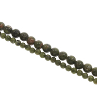 Natural Unakite Beads, Round, different size for choice, Hole:Approx 1mm, Length:Approx 15 Inch, Sold By Bag