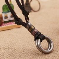 Коровьей ожерелье, цинковый сплав, с коровьей шнур, Другое покрытие, может быть использован как ожерелье или свитера & регулируемый, не содержит никель, свинец, Продан через 19.6-31.5 дюймовый Strand