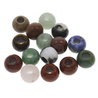 Mixed European Kralen Edelsteen gemengd   groot gat 12x10mm Gat:Ca 5mm 30pC's/Bag Verkocht door Bag