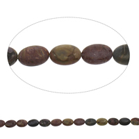 Natural Indian Agate Beads, Flat Oval, 13x18x6mm, Hole:Approx 1mm, Approx 22PCs/Strand, Sold Per Approx 15.5 Inch Strand