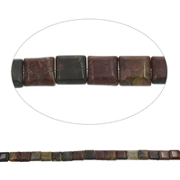 Natural Indian Agate Beads, Square, 13x5mm, Hole:Approx 1mm, Approx 32PCs/Strand, Sold Per Approx 15 Inch Strand