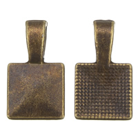 Zinc Alloy Glue on Bail, antique bronze color plated, lead & cadmium free, 10x18x4mm, Hole:Approx 2x4mm, 100G/Bag, Sold By Bag