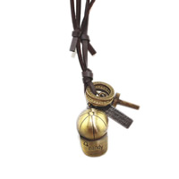 Коровьей ожерелье, цинковый сплав, с коровьей шнур, шапка, Другое покрытие, может быть использован как ожерелье или свитера & регулируемый, не содержит никель, свинец, длина:19.6-31.5 дюймовый, продается PC