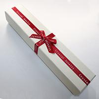 Kartonowe pudełko na naszyjnik, Tektura, ze Gąbka & Satynowa wstążka, Prostokąt, z listu wzór & z motywem kokardki, 51x250x40mm, 24komputery/wiele, sprzedane przez wiele