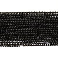 Musta Obsidian Helmet, Pyöreä, erikokoisia valinnalle, Reikä:N. 0.5mm, Pituus:N. 16 tuuma, Myymät erä