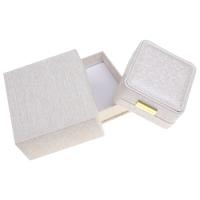 Kartonowe pudełko na naszyjnik, Tektura, ze PU & Welwet & Stop cynku, Kwadrat, Platerowane w kolorze złota, 88x45x92mm, sprzedane przez PC