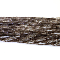 Natural Smoky Quartz Beads, Round, different size for choice & faceted, Length:Approx 16 Inch, Sold By Lot
