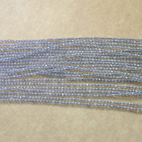 Natural Grey Agate Beads, Round, different size for choice & faceted, Length:Approx 16 Inch, Sold By Lot