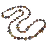 Natural Freshwater Pearl Long Necklace, 7x3mm-22x7mm, Sold Per Approx 33.5 Inch Strand