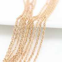 Brass Oval Chain, 24K gold plated, nickel, lead & cadmium free, 2.30x2x0.40mm, 10m/Lot, Sold By Lot