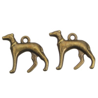 Zinc Alloy Animal Pendants, Dog, antique bronze color plated, lead & cadmium free, 22x19x4mm, Hole:Approx 2mm, 100G/Bag, Sold By Bag