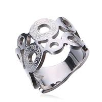 Пальцевидное Кольцо Титановой Стали, титан, отверстие, оригинальный цвет, 13mm, размер:6, 10ПК/Лот, продается Лот