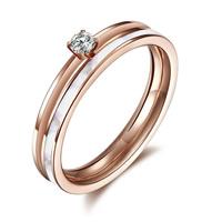 Пальцевидное Кольцо Титановой Стали, титан, с Белая ракушка, плакированный цветом розового золота, природный & со стразами, размер:6, 10ПК/Лот, продается Лот
