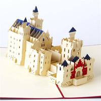 бумага 3D открытка, здание, 3D-эффект, красный, 150x200mm, 5ПК/Лот, продается Лот