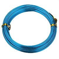 Aluminum Wire, aluminium wire, electrophoresis, blue, 1.50mm, 10PCs/Bag, Approx 12m/PC, Sold By Bag