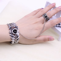 Zinc Alloy Bracelet Ring Flower antique silver color plated lead   cadmium free 20mm 60mm Inner Diameter:Approx 58mm US Ring Size:7.5 Length:Approx 7 Inch