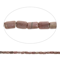 Natural Rhodonite Beads, Rectangle, 8x13x5mm, Hole:Approx 1.5mm, Length:Approx 15.5 Inch, 5Strands/Bag, Approx 33PCs/Strand, Sold By Bag