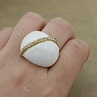 Кольца из полимерной смолы, нержавеющая сталь, с канифоль, плакирован золотом, со стразами, 23mm, размер:8, 10ПК/Лот, продается Лот