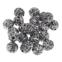 Antyczne koraliki akrylowe, Akryl, Koło, imitacja starego srebra, 8mm, otwór:około 1mm, 200G/torba, sprzedane przez torba