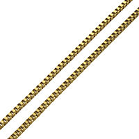 Stainless Steel Boston Chain real gold plated box chain 2mm 10m/Lot