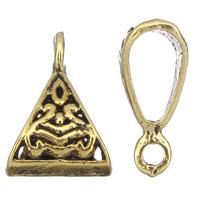 Zinc Alloy Jewelry Bail, antique gold color plated, lead & cadmium free, 10x15x6mm, Hole:Approx 2mm, 5x6mm, Approx 1660PCs/KG, Sold By KG