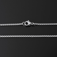 Stal nierdzewna Nekclace Chain, pole łańcucha, oryginalny kolor, 2x2x1mm, sprzedawane na około 17.6 cal Strand
