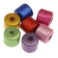 Cudowne akrylowe koraliki, Akryl, Kolumna, mieszane kolory, 8mm, otwór:około 1mm, około 1280komputery/torba, sprzedane przez torba