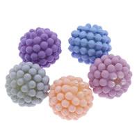 ABS пластмассовые Бусины, ABS пластик жемчужина, Круглая, Спрей картины, съемный & прорезиненные, Много цветов для выбора, 15mm, отверстие:Приблизительно 1mm, Приблизительно 500ПК/сумка, продается сумка