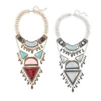Мода себе ожерелье, цинковый сплав, с Кристаллы & канифоль, с 2.7lnch наполнитель цепи, Другое покрытие, со стразами, Много цветов для выбора, 120mm, Продан через Приблизительно 18.8 дюймовый Strand
