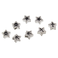 Stainless Steel Magnetic Stud Earring, with Magnetic Hematite, Star, plated, mixed pattern & two tone, 10x5mm, 12Bags/Lot, 2PCs/Bag, Sold By Lot