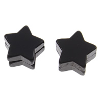 Stainless Steel Magnetic Stud Earring, with Magnetic Hematite, Star, black ionic, 9x6mm, 12Bags/Lot, 2PCs/Bag, Sold By Lot