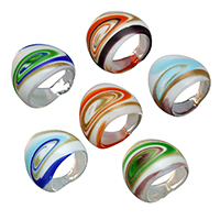 Lampwork Finger Ring for woman   gold sand 24.50x5.50mm US Ring Size:8 10Bags/Lot 6PCs/Bag