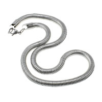 Stainless Steel Snake Chain, for man, original color, 6.50mm, Length:Approx 18 Inch, 50Strands/Lot, Sold By Lot