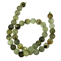 Natural Prehnite Beads, Round, different size for choice & faceted, Hole:Approx 1-2mm, Length:Approx 15 Inch, Sold By Lot