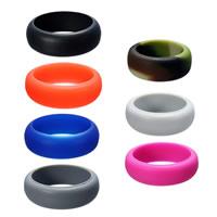 Unisex Finger Ring, Silicone, uniseks & verschillende grootte voor keus, meer kleuren voor de keuze, 8mm, Verkocht door PC