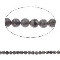 Picasso Jasper Beads, Round, 8mm, Hole:Approx 1mm, Length:Approx 15 Inch, 10Strands/Bag, Approx 47PCs/Strand, Sold By Bag