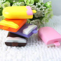 пластик Контактные линзы Case, с Стеклянный, Мороженое, разноцветный, 70x74x25mm, 5ПК/сумка, продается сумка