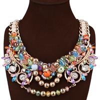Мода себе ожерелье, цинковый сплав, с гросгрейнская лента & Кристаллы, с 3.9lnch наполнитель цепи, плакирован золотом, Женский & граненый & со стразами, не содержит никель, свинец, 80mm, Продан через Приблизительно 20.4 дюймовый Strand