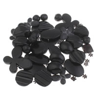 Solid Color Acrylic Beads, black, 6mm-43x47x6mm, Hole:Approx 1-5mm, Approx 200PCs/Bag, Sold By Bag