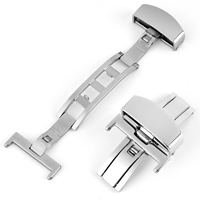 Watch Band Clasp, Stainless Steel, different size for choice, original color, nickel, lead & cadmium free, Sold By PC