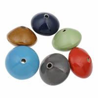 Koraliki porcelanowe European, Porcelana, Podwójny stożek, Szkliwione, mieszane kolory, 40x30mm, otwór:około 5mm, 10komputery/torba, sprzedane przez torba