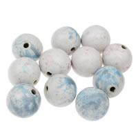 Koraliki porcelanowe European, Porcelana, Koło, Szkliwione, mieszane kolory, 32mm, otwór:około 4mm, 10komputery/torba, sprzedane przez torba