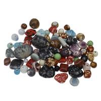 Porcelanowe koraliki, Porcelana, mieszane, 10-25x35mm, otwór:około 1-4mm, około 120komputery/KG, sprzedane przez KG