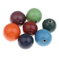 Фарфоровые бусины Европейская стиль, фарфор, Круглая, покрытый глазурью, крупное отверстие, Много цветов для выбора, 36mm, отверстие:Приблизительно 5mm, 5ПК/сумка, продается сумка