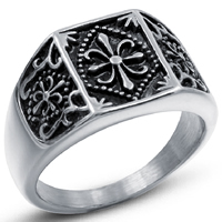 Men Finger Ring, Titanium Steel, different size for choice & for man & blacken, 14mm, 3PCs/Lot, Sold By Lot