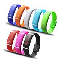 LED horloges, Silicone, meer kleuren voor de keuze, 20x10mm, 18mm, Lengte:Ca 9.4 inch, Verkocht door PC