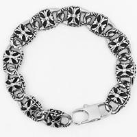 Men Bracelet, Titanium Steel, for man & blacken, 13mm, Sold Per Approx 8.6 Inch Strand