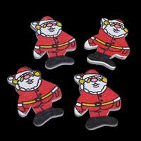 Деревянные Подвески, деревянный, Санта Клаус, принт, Рождественские украшения, 31x45x3mm, отверстие:Приблизительно 1mm, 1000ПК/сумка, продается сумка