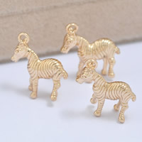 24K Gold Pendant, Brass, Horse, 24K gold plated, lead & cadmium free, 16x18mm, Hole:Approx 1-2mm, 20PCs/Bag, Sold By Bag